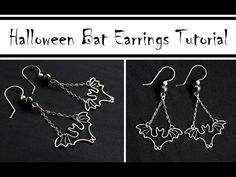 Wire Wrapped Bat Earrings for Halloween ~ #Wire #Jewelry #Tutorials