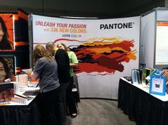 The Pantone booth at a trade show.  I am such a groupie!
