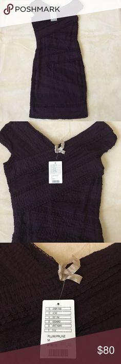 Anthropologie Plum Dress Size M 🎈 Retail $188 🎈BRAND NEW Anthropologie Dresses Midi