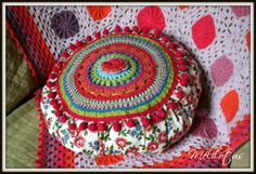 crochet and flowers print