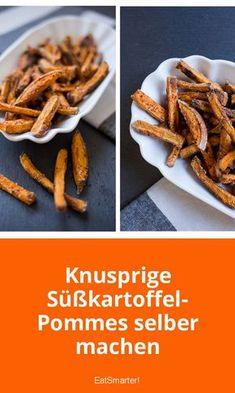 Süßkartoffel-Pommes: knusprig ohne Fritteuse | eatsmarter.de #süßkartoffelpommes #pommes #küchentipps