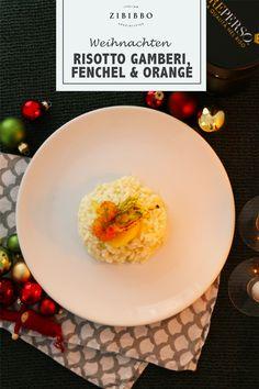 Der Reis Reperso Tubo verfeinert mit edlen Zutaten wie frischen Gamberi, würzigem Fenchel und duftenden Orangenaromen ergibt ein besonders aromatisches Gericht für festliche Anlässe. Risotto, Rind, Orange, Al Dente, Italian Cuisine, Fennel, Easy Meals, Recipies