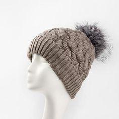 6edc7c39e03a5 New Add Lining Knitted Winter Hats Women Warm Fur Pompom Cap Skullies    Beanies For Women