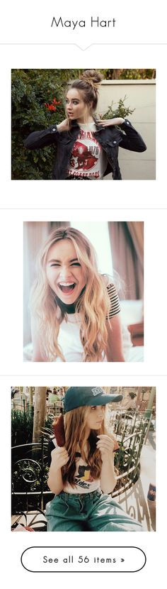"""Maya Hart"" by ringpower ❤ liked on Polyvore featuring sabrina, sabrina carpenter, teens, gmw, girls, people, hair, icons, anna and rowan blanchard"
