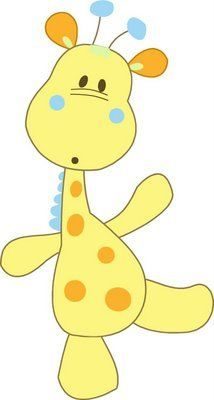 Adorable baby giraffe illustration/wall print - would be perfect for a nursery!
