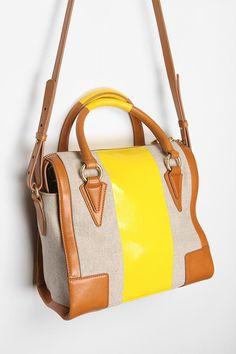Pour La Victoire Two-Tone Verona Bowler Bag