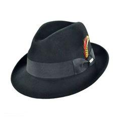 Blues Trilby Crushable Fedora Hat  available at #VillageHatShop