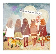 """Best friends"" by texaspinkfox ❤ liked on Polyvore featuring art"