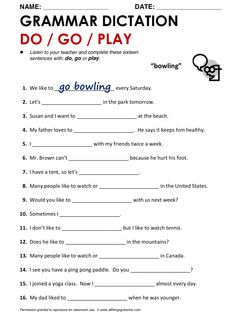 Spelling Worksheet, Speaking and Vocab Practice: Places