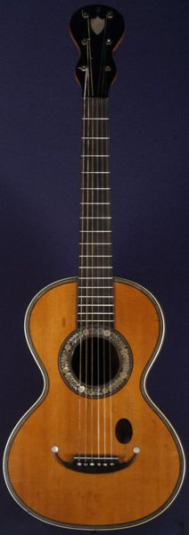 Early Musical Instruments, antique Romantic Guitar by Coffe around 1850