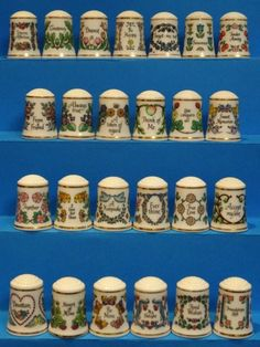 Coleccion completa Victorian Rememberings. Franklin Porcelain. Thimble-Dedal-Fingerhut.