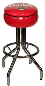 Coca-Cola Ringed Bar Stool