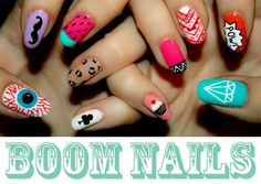 different nail designs! prettyy coolll!