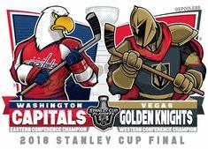The NHL Stanley Cup Final: Las Vegas Golden Knights v. Washington Capitals Stanley Cup, Washington Capitals Hockey, Golden Knights Hockey, Vegas Golden Knights, Nhl Stanley Cup Finals, Stanley Cup Champions, Caps Hockey, Hockey Teams, Hockey Stuff
