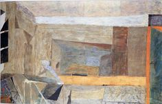 "Piotr Potworowski, 1955, ""Grey Interior"""