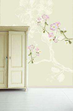 Eijffinger - Un Bisou II - Fleurs De Printemps Verte bij Behangwebshop