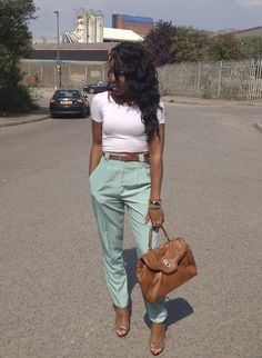 love love love the mint high waisted pants