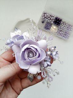 Lavender Bridal hair comb Wedding hair comb Bridal