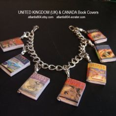 Harry Potter Mini Book Charm bracelet.  I am hyperventilating over this!
