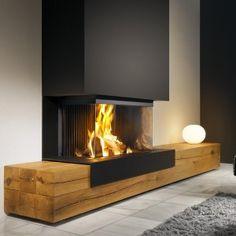 The 70 Best Modern Fireplace Design Ideas – Luxury Interior – Living Room Furniture – Living Room Ideas Fireplace Hearth, Home Fireplace, Living Room With Fireplace, Fireplace Design, Living Room Decor, Fireplace Ideas, Modern Fireplaces, Black Fireplace, Living Area
