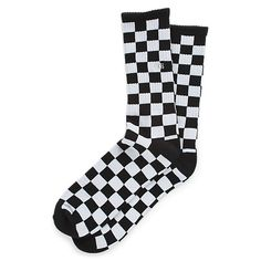 Small Checkered Design Calf Socks