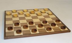 """Super nice, classic Christmas fun for all ages! Ships FREE Gound in Cont U.S. from The Game Supply - 15"""" Wood Checker Set, $39.95 (http://www.thegamesupply.com/15-wood-checker-set/) #woodcheckerssets"""