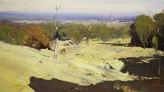 Colley Whisson     Summer at Sunbury, Aust Oil 5''x 9''