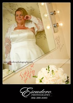 Backstage in a dressing room at the Smyrna Opera House, a bride prepares for her special day.