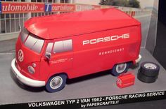 Volkswagen T1 Bulli Transporter In 1/35 Scale - by Papercrafts.It  ==          This is the 1/35 Paper Model of Volkswagen T1 Bulli Transporter. This little van has been used by the racing team PORSCHE MOTORSPORT in the 60s for assistance of racing sport prototypes.