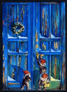 Don't you think the blue door is fascinating - what is behind it?  Maj Fagerberg