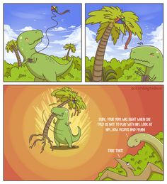 Misunderstood T-Rex by accordingtodevin - A Member of the Internet's Largest Humor Community T Rex Humor, Dry Humor, Clean Funny Pictures, Having No Friends, Picture Blog, Clean Memes, Best Funny Videos, Lol, Grumpy Cat