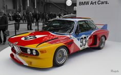 Calder | BMW Art Car #1 by Alexander Calder (1975) BMW 3.0 CSL Group 5 Le Grand Palais, Paris