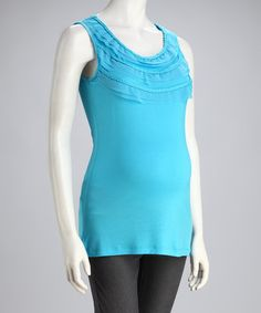 Kische Water Braid Maternity Top - Women by Kische Cheap Maternity Clothes, Maternity Tops, That Look, Take That, Basic Tank Top, Athletic Tank Tops, Daddy, Braids, Aqua