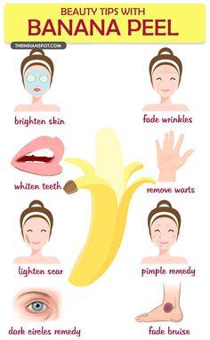 Amazing beauty tips With Banana Peel