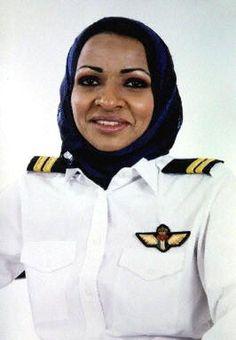 Hanadi Zakriyya Hindi, first woman pilot in Saudi Arabia.
