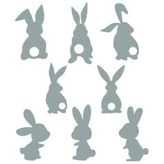 Easter Bunny Silhouette Svg Cuttable Designs