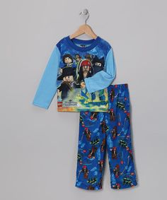 Take a look at this Blue Pirates of the Caribbean Pajama Set - Boys by Disney on #zulily today!