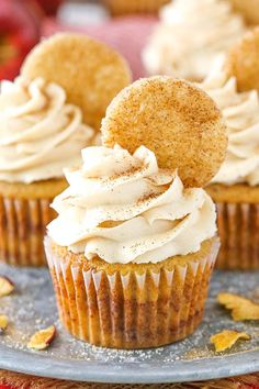 Apple Snickerdoodle Cupcakes   Snickerdoodle Cupcakes Recipe