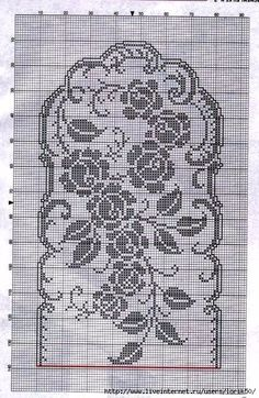 Watch The Video Splendid Crochet a Puff Flower Ideas. Phenomenal Crochet a Puff Flower Ideas. Filet Crochet Charts, Crochet Cross, Crochet Diagram, Crochet Art, Crochet Home, Thread Crochet, Vintage Crochet, Crochet Table Runner Pattern, Crochet Flower Patterns