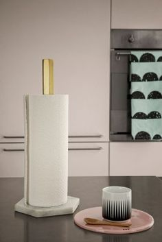 Beautiful marble and brass paper roll holder #inspiration #interiordesign