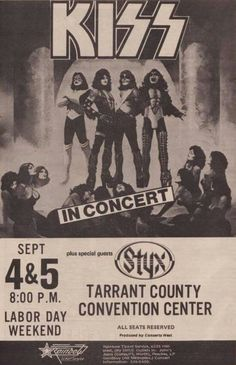 KISS and Styx? Interesting combo.
