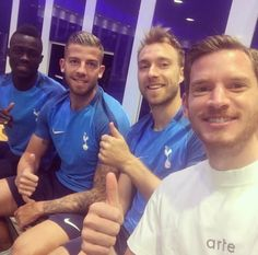 Sanchez,Alderweireld,Eriksen and Vertonghen. Manchester City, Manchester United, Tottenham Hotspur Football, London Pride, White Hart Lane, North London, Lionel Messi, Liverpool Fc, Premier League