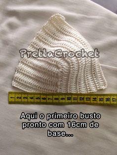 Pretta Crochet: Cropped Princess com PAP