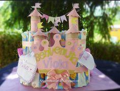 Torta pannolini castello