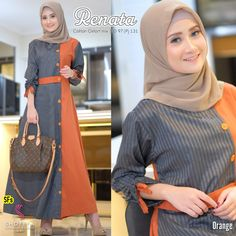 Modest Fashion Hijab, Modesty Fashion, Abaya Fashion, Women's Fashion Dresses, Long Denim Shirt Dress, Moslem Fashion, Batik Fashion, Muslim Dress, Islamic Fashion