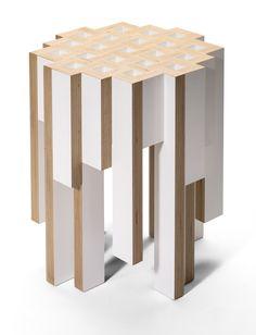 tisch escher design orterfinder beistelltisch couchtisch hocker multiplex wei m bel. Black Bedroom Furniture Sets. Home Design Ideas
