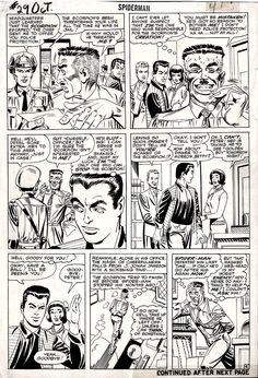 Spider-Man page 4 Marvel Comic Books, Comic Books Art, Marvel Comics, Comic Book Artists, Comic Artist, Steve Ditko, Spiderman Art, Silver Surfer, Comic Page