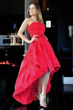 Vestido asimétrico rojo by Carles by Boutique Clara   Boutique Clara