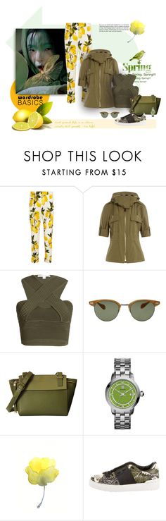 """Lemon Happy"" by michelletheaflack ❤ liked on Polyvore featuring Dolce&Gabbana, Haute Hippie, Burberry, Jonathan Simkhai, Oliver Peoples, Tory Burch, Valentino, polyvorecontest and wardrobebasics"