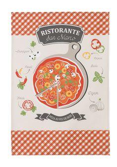 COUCKE - Torchon Pizza pour la cuisine, Italia
